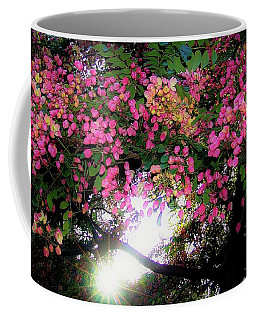 Shower Tree Flowers And Hawaii Sunset Coffee Mug