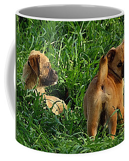 Showing Her Mutt. Coffee Mug