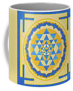 Shri Yantra For Meditation Painted Coffee Mug