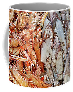 Shrimp And Squid - Port Santo Stefano, Italy Coffee Mug