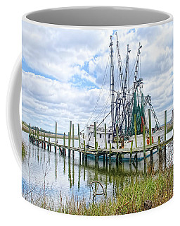 Shrimp Boats Of St. Helena Island Coffee Mug