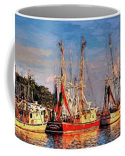 Shrimp Boats Shem Creek In Mt. Pleasant  South Carolina Sunset Coffee Mug