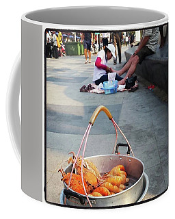 Coffee Mug featuring the photograph Shrimping And Crabbing On The by Mr Photojimsf