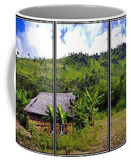 Coffee Mug featuring the photograph Shuar Hut In The Amazon by Al Bourassa