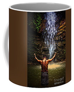 Shuar Shaman At Sucua Ecuador Coffee Mug by Al Bourassa