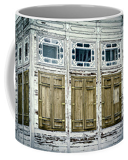 Coffee Mug featuring the photograph Shuttered And Peeling Palace by Joan Carroll