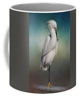 Shy Egret Coffee Mug