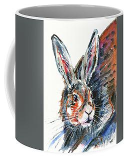 Shy Hare Coffee Mug by Zaira Dzhaubaeva