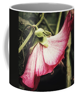 Shy Hollyhock Coffee Mug by Karen Stahlros