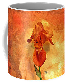 Shy Iris Coffee Mug by Marsha Heiken
