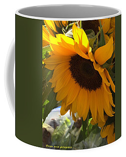 Shy Sunflower Coffee Mug by Nance Larson