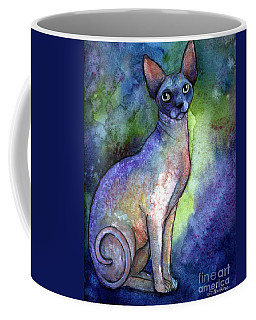 Shynx Cat 2 Painting Coffee Mug by Svetlana Novikova