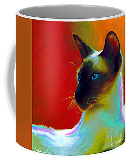 Siamese Cat 10 Painting Coffee Mug
