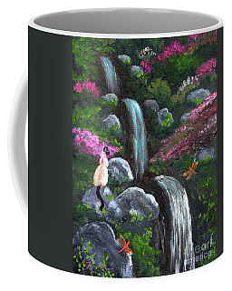 Siamese Cat And Dragonflies Coffee Mug by Laura Iverson