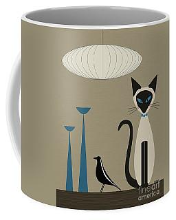 Siamese Cat With Eames House Bird Coffee Mug