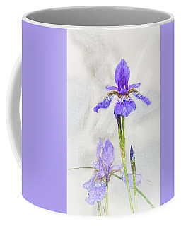 Coffee Mug featuring the digital art Siberian Iris by Mark Mille