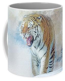 Siberian Tiger In Snow Coffee Mug by Brian Tarr