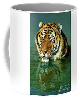 Siberian Tiger Reflection Wildlife Rescue Coffee Mug
