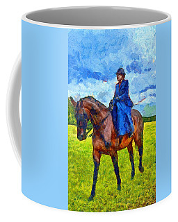 Coffee Mug featuring the photograph Side Saddle by Scott Carruthers