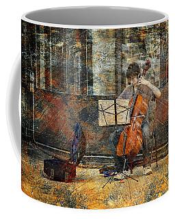 Sidewalk Cellist Coffee Mug