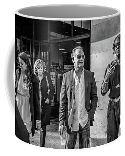Coffee Mug featuring the photograph Sidewalk Circulation by David Sutton