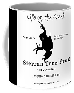 Sierran Tree Frog - Black Graphics Coffee Mug