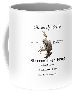 Sierran Tree Frog - Photo Frog, Black Text Coffee Mug