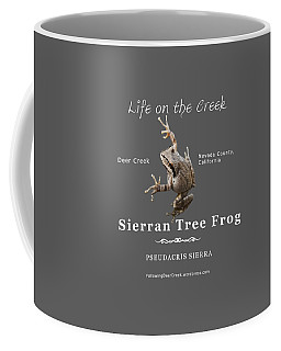 Sierran Tree Frog - Photo Frog, White Text Coffee Mug