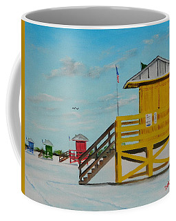 Siesta Key Lifeguard Stands Coffee Mug