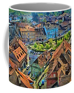 Sighisoara From Above Coffee Mug by Jeff Kolker