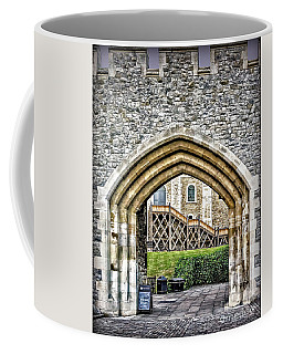 Sights In England - Castle Arch And Stairs Coffee Mug