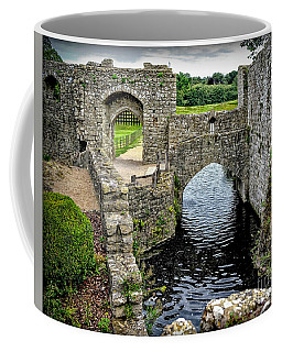 Sights In England - Castle With Moat Coffee Mug