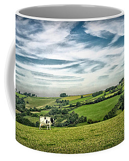 Sights In England - Cow In Pasture Coffee Mug by Walt Foegelle