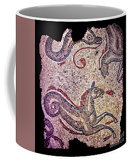 Sights In England - Roman Bath Tile Horses Coffee Mug