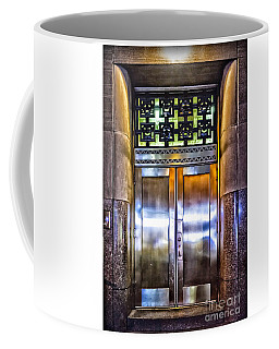 Coffee Mug featuring the photograph Sights In New York City - Bright Door by Walt Foegelle
