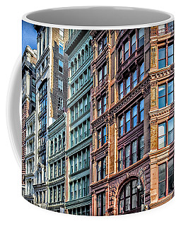Coffee Mug featuring the photograph Sights In New York City - Colorful Buildings by Walt Foegelle