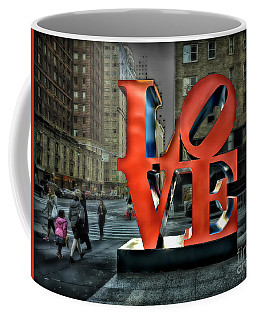 Sights In New York City - Love Statue Coffee Mug