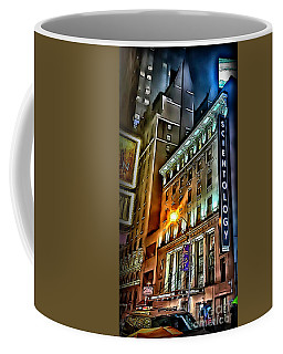 Coffee Mug featuring the photograph Sights In New York City - Scientology by Walt Foegelle