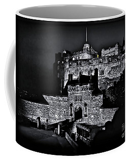 Sights In Scotland - Castle Bagpiper Coffee Mug