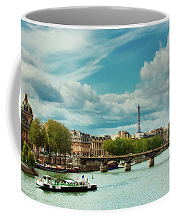Sightseeing On The River Seine Coffee Mug
