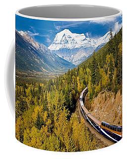 Sightseeing Thru Canadian Rockies Coffee Mug