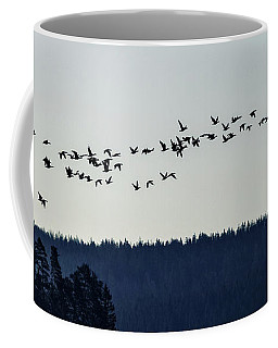 Signs Of Spring - Migrating Geese Coffee Mug