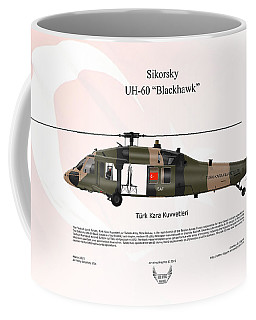 Sikorsky Uh-60 Blackhawk Coffee Mug by Arthur Eggers