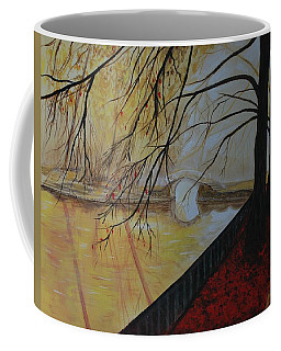 Coffee Mug featuring the painting Silence by Leslie Allen