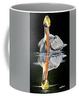 Coffee Mug featuring the painting Silence Of The Night by Phyllis Beiser