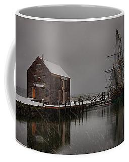 Silently The Snow Falls. Coffee Mug