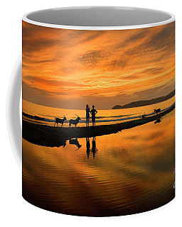 Silhouette And Amazing Sunset In Thassos Coffee Mug