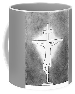 Silhouette Cross Coffee Mug