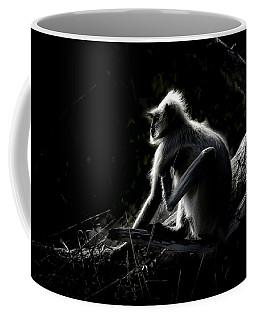Silhouette Of A Monkey Coffee Mug