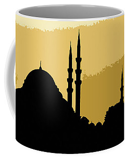 Silhouette Of Mosques In Istanbul Coffee Mug